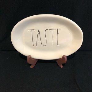 """Rae Dunn Magenta 8.5"""" Oval Platter """"Taste"""""""
